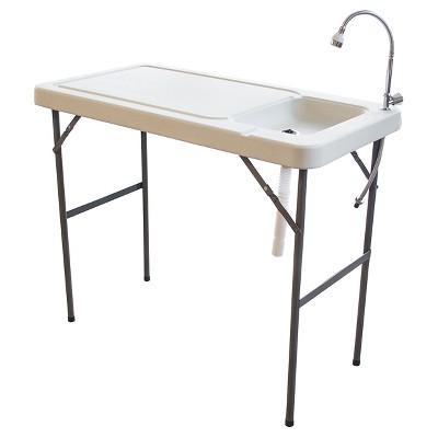 37  Portable Garden Table - White - Sportsman