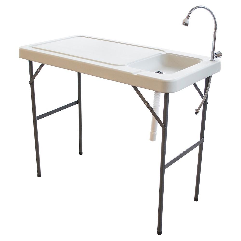 "Image of ""37"""" Portable Garden Table - White - Sportsman"""