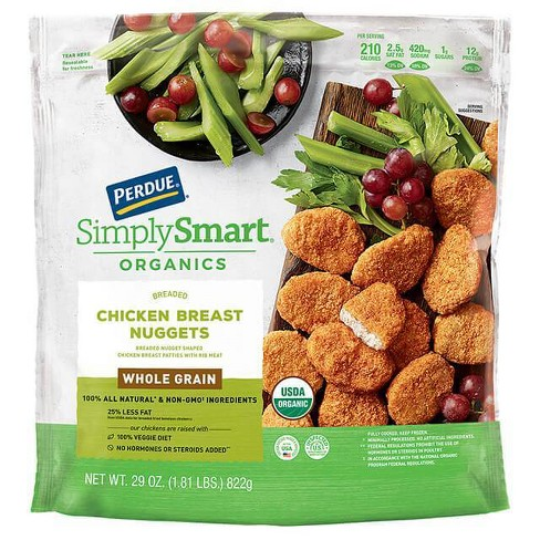 Perdue Simply Smart Organic Whole Grain Breaded Chicken Breast Nuggets - Frozen - 29oz - image 1 of 3