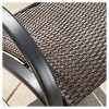 Gracie's Set of 2 Wicker Patio Rocking Chair - Brown - Christopher Knight Home - image 3 of 4