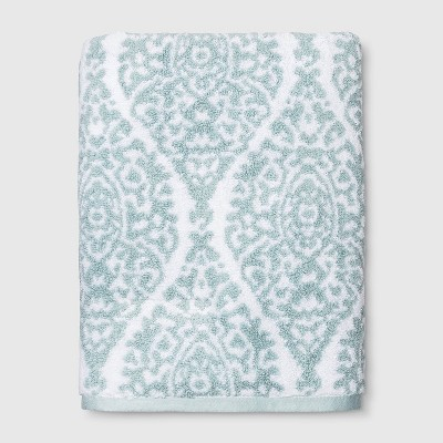 Performance Bath Towel Aqua Ogee - Threshold™