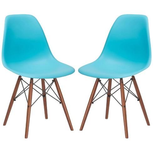Set of 2 Bianca Mid Century Side Chair Walnut Legs - Poly & Bark - image 1 of 4