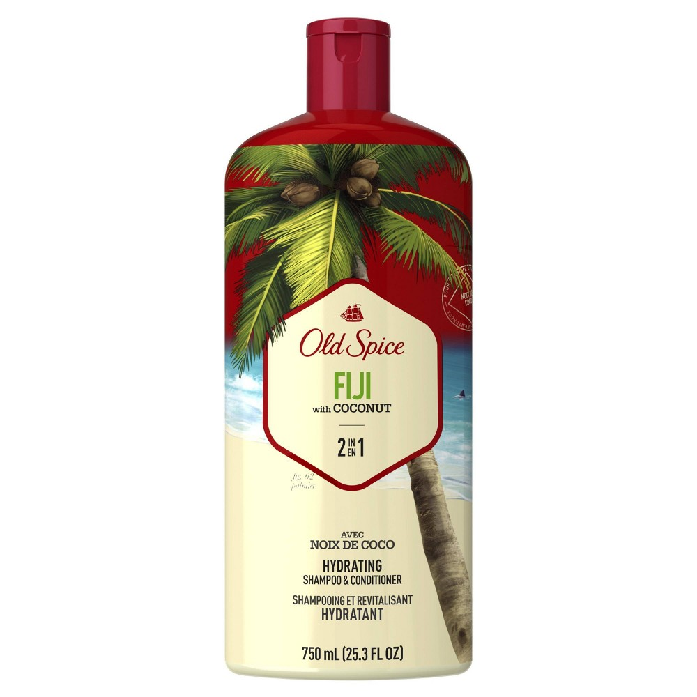 Image of Old Spice Fiji with Coconut Men's 2 in 1 Hydrating Shampoo & Conditioner - 25.3 fl oz