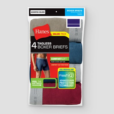 Hanes® Men's Big & Tall 4pk Boxer Briefs