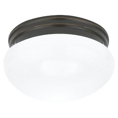"""5.75"""" Webster Two Light Ceiling Flush Mount Heirloom Bronze - Sea Gull Lighting"""