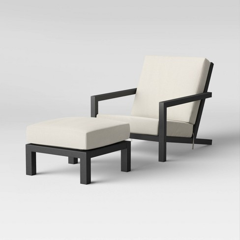 Asti Adirondack Patio Club Chair & Ottoman Set Linen - Project 62™ - image 1 of 4