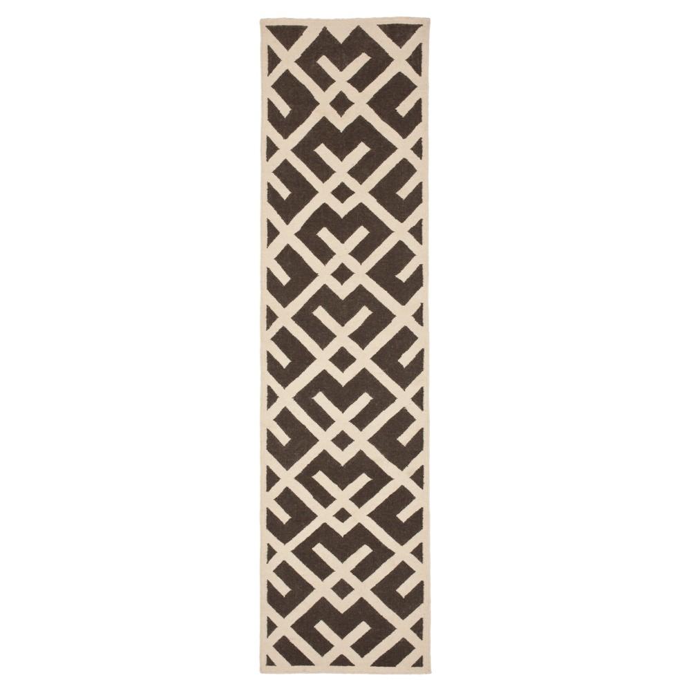 Best Price Tangier Dhurry Area Rug BrownIvory 26x12 Safavieh