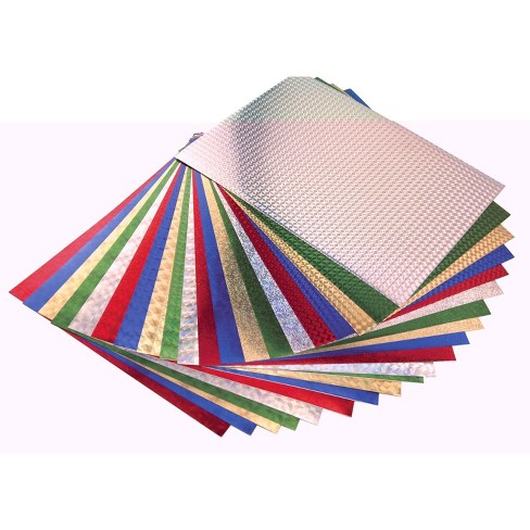 Hygloss Self-Adhesive Holographic Paper, 8-1/2 x 11 Inches, Assorted Colors, 20 Sheets - image 1 of 1