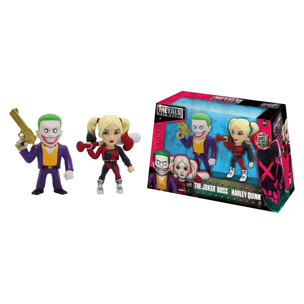 Metals - 4 figures - Suicide Squad - Joker Boss and Harley Quinn twin pack - M23