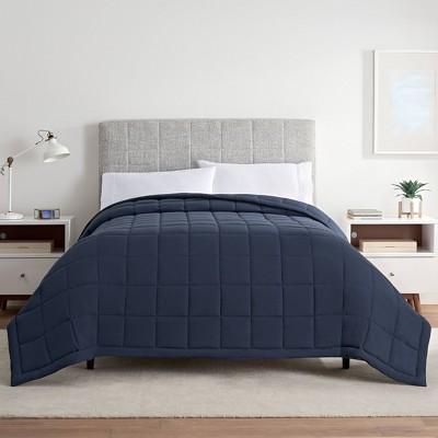 King Down Alternative Bed Blanket Indigo- Serta