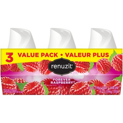Renuzit Gel Air Freshener, Forever Raspberry, 7.0oz , 3ct