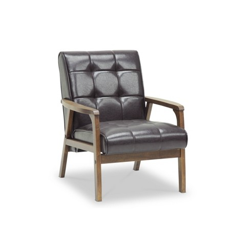 Mid-Century Masterpieces Club Chair Brown - Baxton Studio - image 1 of 4