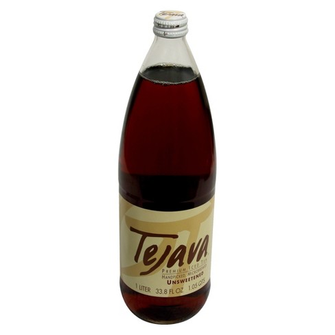 Tejava Unsweetened Premium Iced Tea - 33.8 fl oz Glass Bottle - image 1 of 1