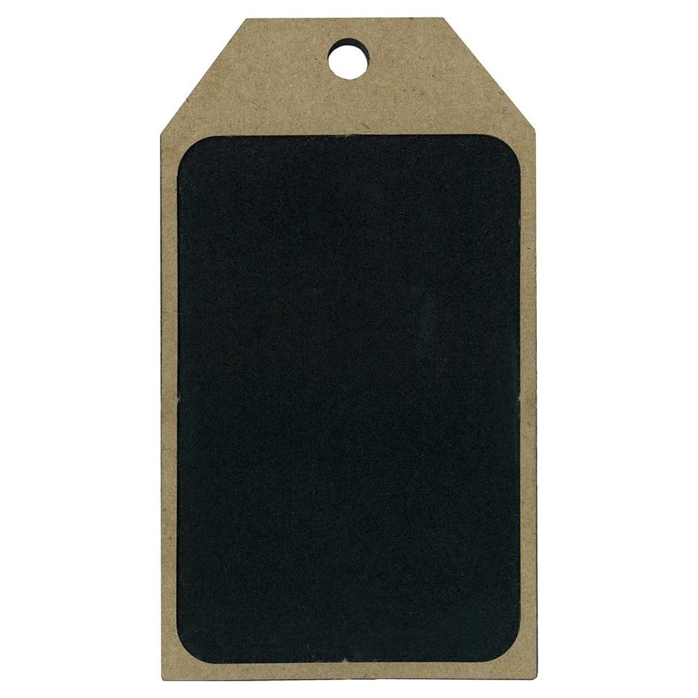 Image of 4ct Chalkboard & Wood Gift Tag - Spritz , Black