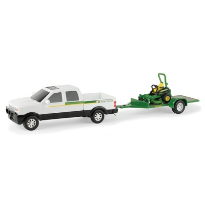 TOMY John Deere 1:32 Scale Dealer Truck with Trailer and Z Trak Mower