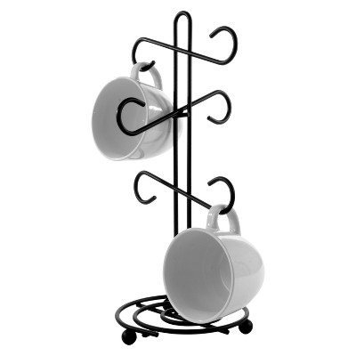 Spectrum Scroll Mug Tree - Black