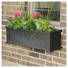 3' Cape Cod Rectangular Window Box Black - Mayne - image 3 of 3