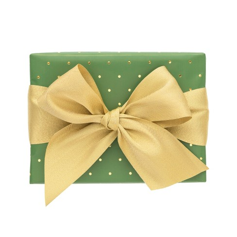 Green with Gold Pin Dot Gift Wrap, Single Roll - sugar paper™ - image 1 of 1
