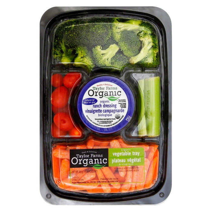 Organic Vegetable Tray with Dip - 16oz - image 1 of 1