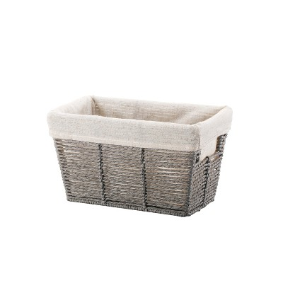 6 x6  Twisted Paper Rope Small Tapered Basket Gray - Threshold™