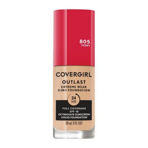 COVERGIRL Outlast Extreme Wear 3-in-1 Foundation with SPF 18 - 1 fl oz - image 1 of 4