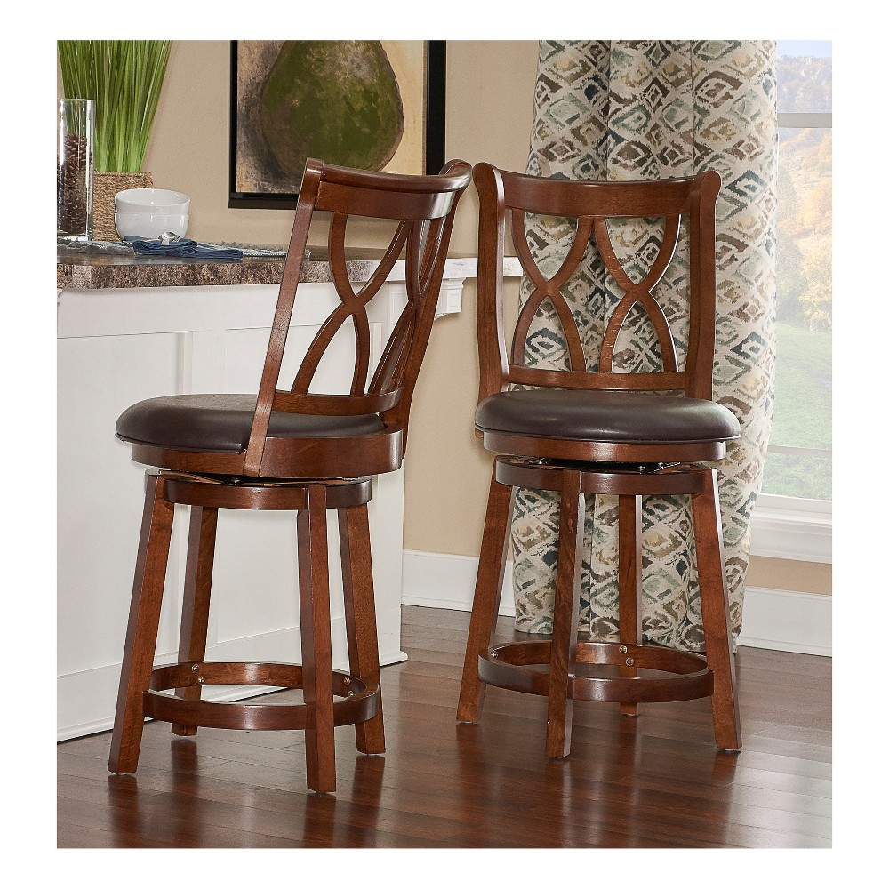 26 Madison Counter Stool Rustic Oak (Brown) - Powell Company