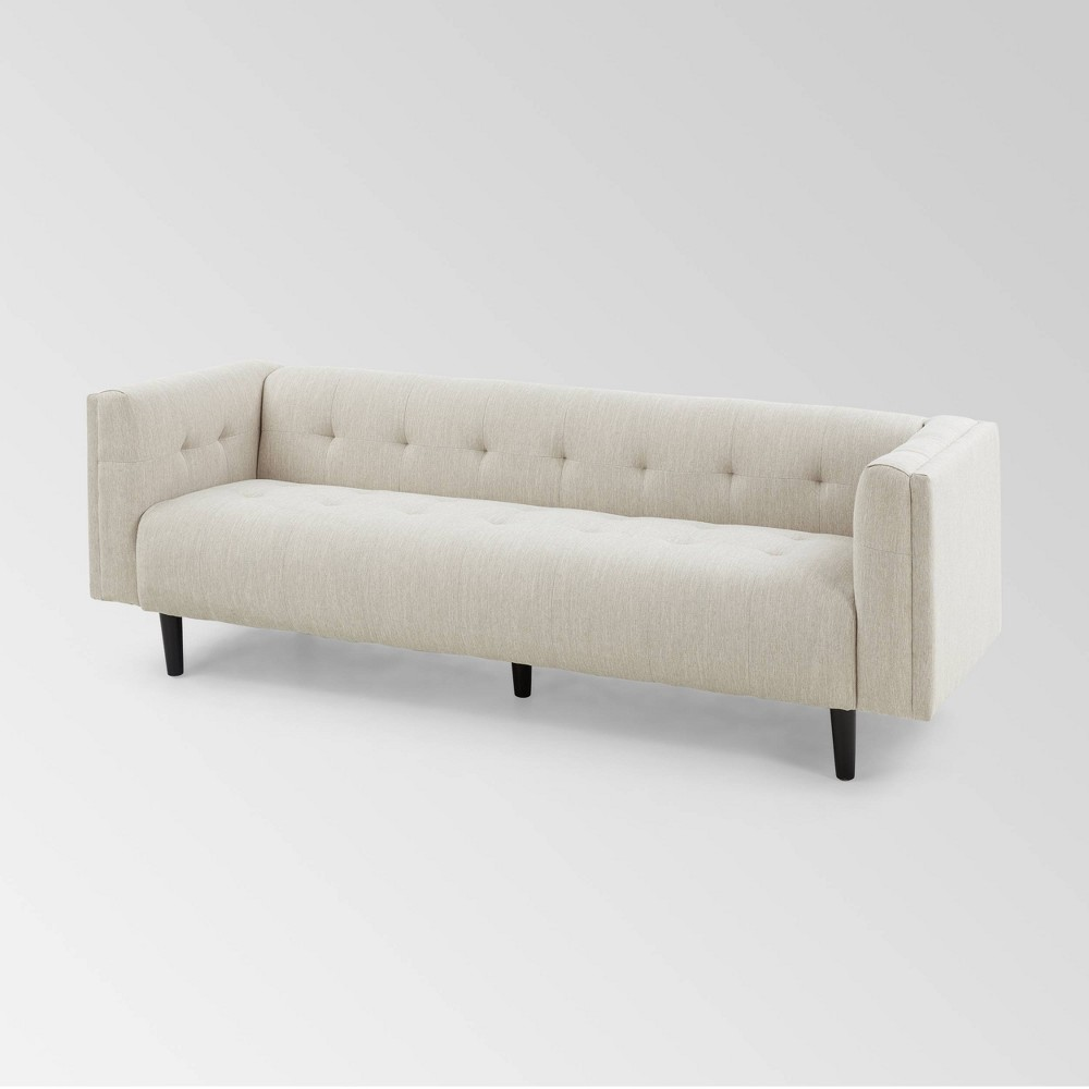 Ludwig Mid Century Modern Upholstered Tufted Sofa Beige - Christopher Knight Home was $999.99 now $649.99 (35.0% off)