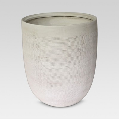 14  Textured Ceramic Planter - White - Threshold™