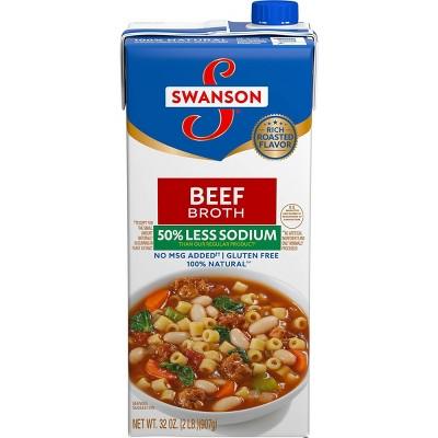 Swanson Beef Broth 50% Less Sodium 32oz