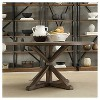 Sierra Round Dining Table Wood/Brown - Inspire Q - image 4 of 4