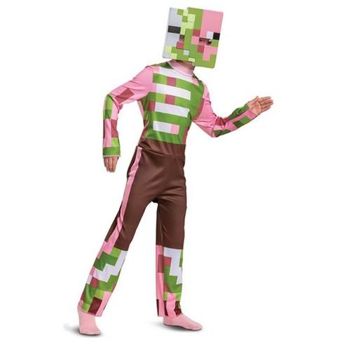 Minecraft Halloween Costumes For Kids 2020 Kids' Minecraft Zombie Pigman Halloween Costume Jumpsuit : Target