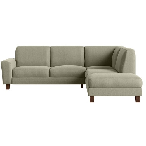 2pc Lambert Sectional Sofa with Chaise Taupe/Gray - Handy Living