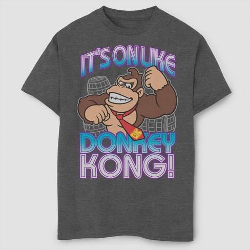 Boys' Super Mario Bros Its On Like Donkey Kong T-Shirt - Gray - image 1 of 2