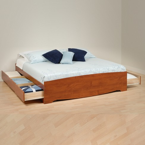Mate's Platform 6 Drawer Storage Bed King - Prepac - image 1 of 3