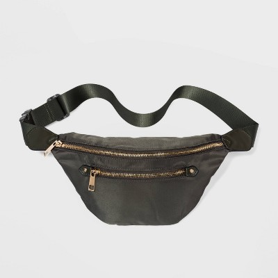 Women's Zip Closure Fanny Pack - A New Day™ Green