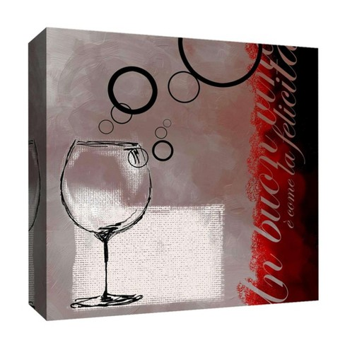 "Wine Bubble II Decorative Canvas Wall Art 16""x16"" - PTM Images - image 1 of 1"
