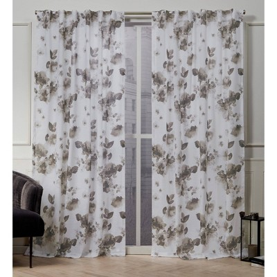 Kristy Back Tab Light Filtering Window Curtain Panels - Exclusive Home