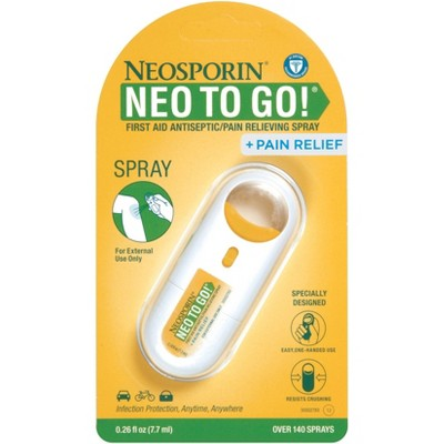 Neosporin First Aid Antiseptic and Pain Relieving Spray - 0.26oz