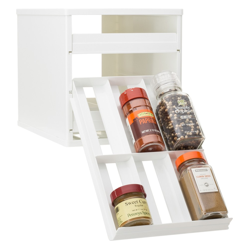 YouCopia Spice Rack 18 Bottle White