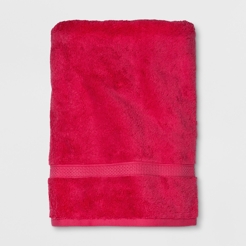 Soft Solid Bath Towel Hot Pink - Opalhouse