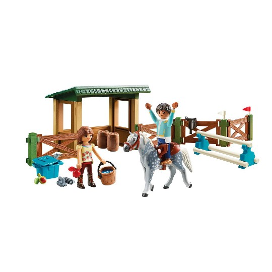 Playmobil Spirit Riding Free Riding Arena With Lucky And Javier image number null