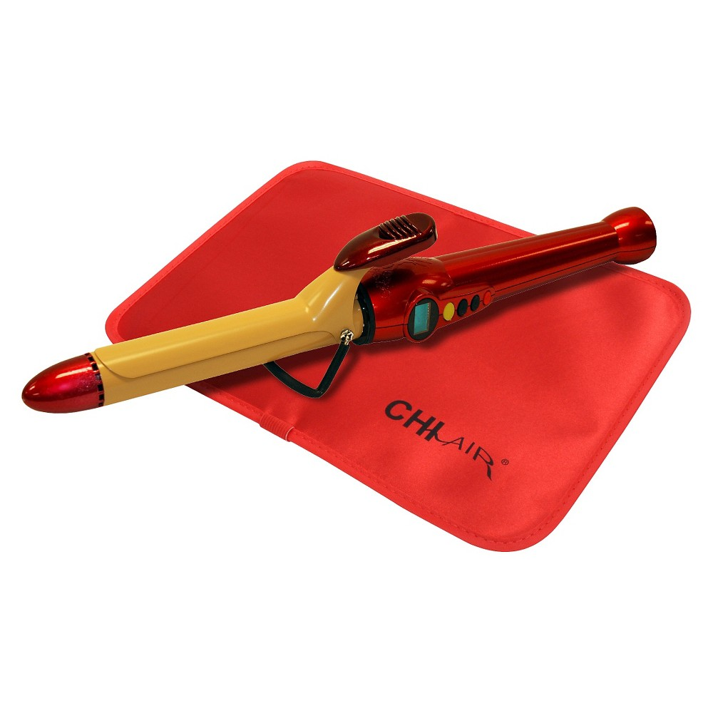 "Image of ""CHI Air 1"""" Tourmaline Ceramic Curling Iron - Fire Red, Red Red"""