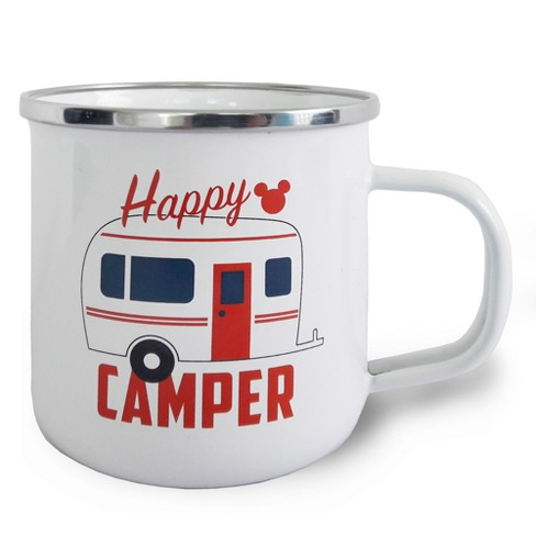 Mickey Mouse & Friends Mickey Mouse Stainless Steel Happy Camper Mug 12oz - White - image 1 of 1