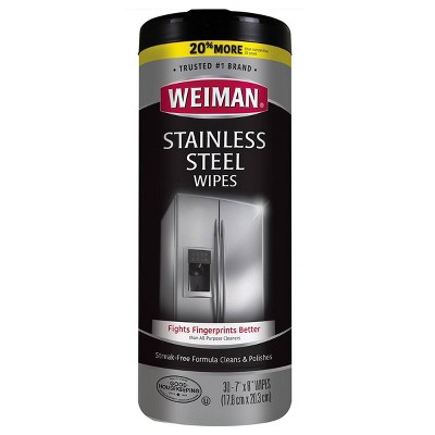 Weiman Stainless Steel Wipes - 30ct