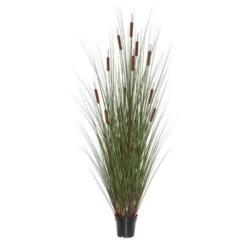"Artificial Grass/Cattail Plant (60"") Green/Brown - Vickerman - image 1 of 1"
