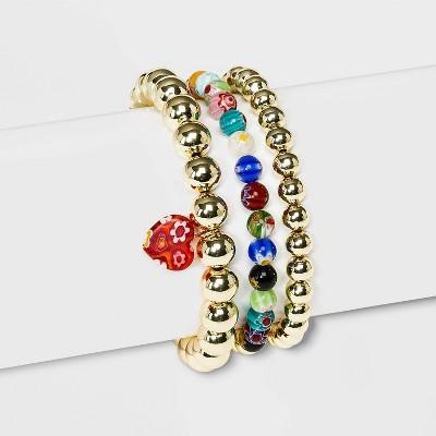 SUGARFIX by BaubleBar Colorful Mixed Media Bracelet Set