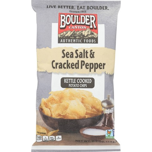 Boulder Canyon Olive Oil Sea Salt & Pepper Kettle Cooked Potato Chips - 78oz/12pk - image 1 of 2