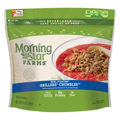 Morningstar Farms Veggie Meal Starters Grillers Crumbles - 12oz - image 1 of 2