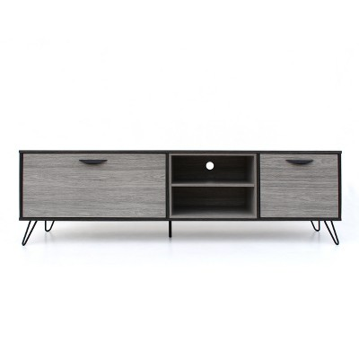 "Isadora 71"" Mid Century TV Stand Sonoma Gray/Black - Christopher Knight Home"