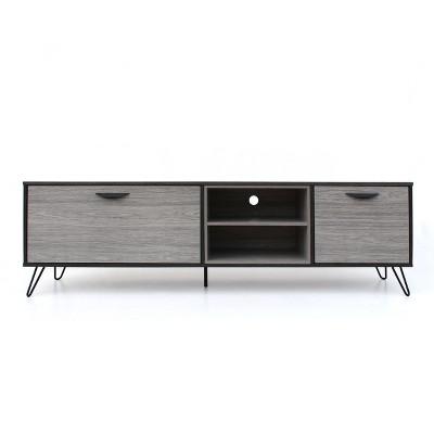 Isadora 71  Mid Century TV Stand Sonoma Gray/Black - Christopher Knight Home